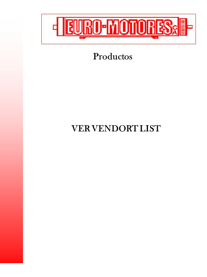 Productos VER VENDORT LIST