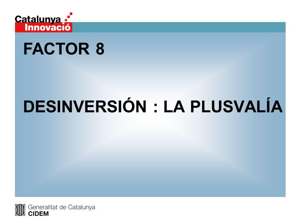 DESINVERSIÓN : LA PLUSVALÍA FACTOR 8