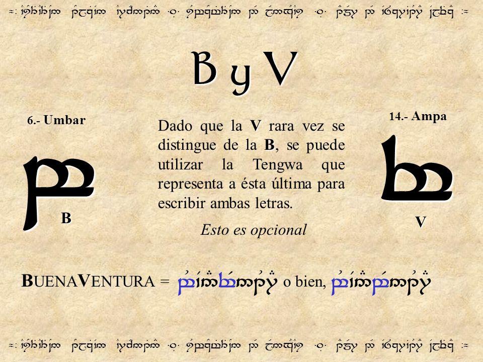 B y V ¬- `CiY3T`C3T~N5 1YjzT`V5 `C7cR51T5# =.É= iUwzYt%3T~N5 2R jR5xU`Ci =.É= 1EmR7 2R `V8z7`B1U7E ~VjeTzE -¬ w V B Dado que la V rara vez se distingu