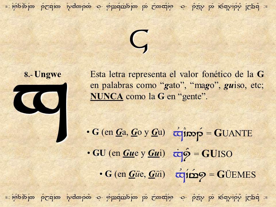 G ¬- `CiY3T`C3T~N5 1YjzT`V5 `C7cR51T5# =.É= iUwzYt%3T~N5 2R jR5xU`Ci =.É= 1EmR7 2R `V8z7`B1U7E ~VjeTzE -¬ x G Esta letra representa el valor fonético