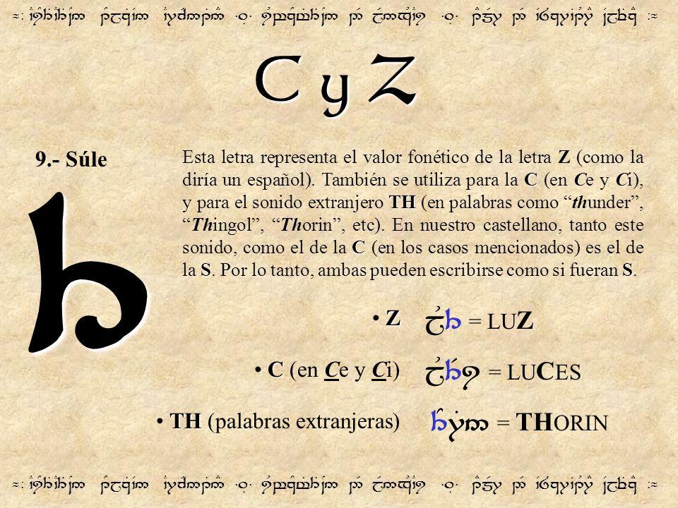 C y Z ¬- `CiY3T`C3T~N5 1YjzT`V5 `C7cR51T5# =.É= iUwzYt%3T~N5 2R jR5xU`Ci =.É= 1EmR7 2R `V8z7`B1U7E ~VjeTzE -¬ 3 C TH C SS Esta letra representa el val