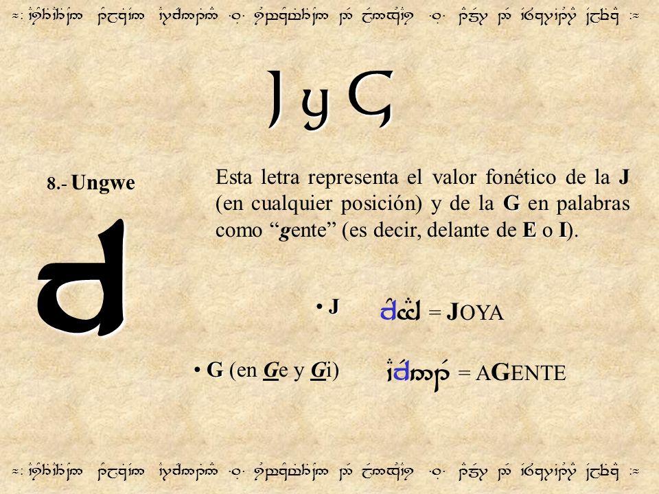 J y G ¬- `CiY3T`C3T~N5 1YjzT`V5 `C7cR51T5# =.É= iUwzYt%3T~N5 2R jR5xU`Ci =.É= 1EmR7 2R `V8z7`B1U7E ~VjeTzE -¬ c G EI Esta letra representa el valor fo