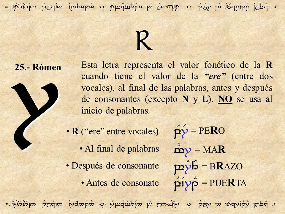 R ¬- `CiY3T`C3T~N5 1YjzT`V5 `C7cR51T5# =.É= iUwzYt%3T~N5 2R jR5xU`Ci =.É= 1EmR7 2R `V8z7`B1U7E ~VjeTzE -¬ 7 NL Esta letra representa el valor fonético