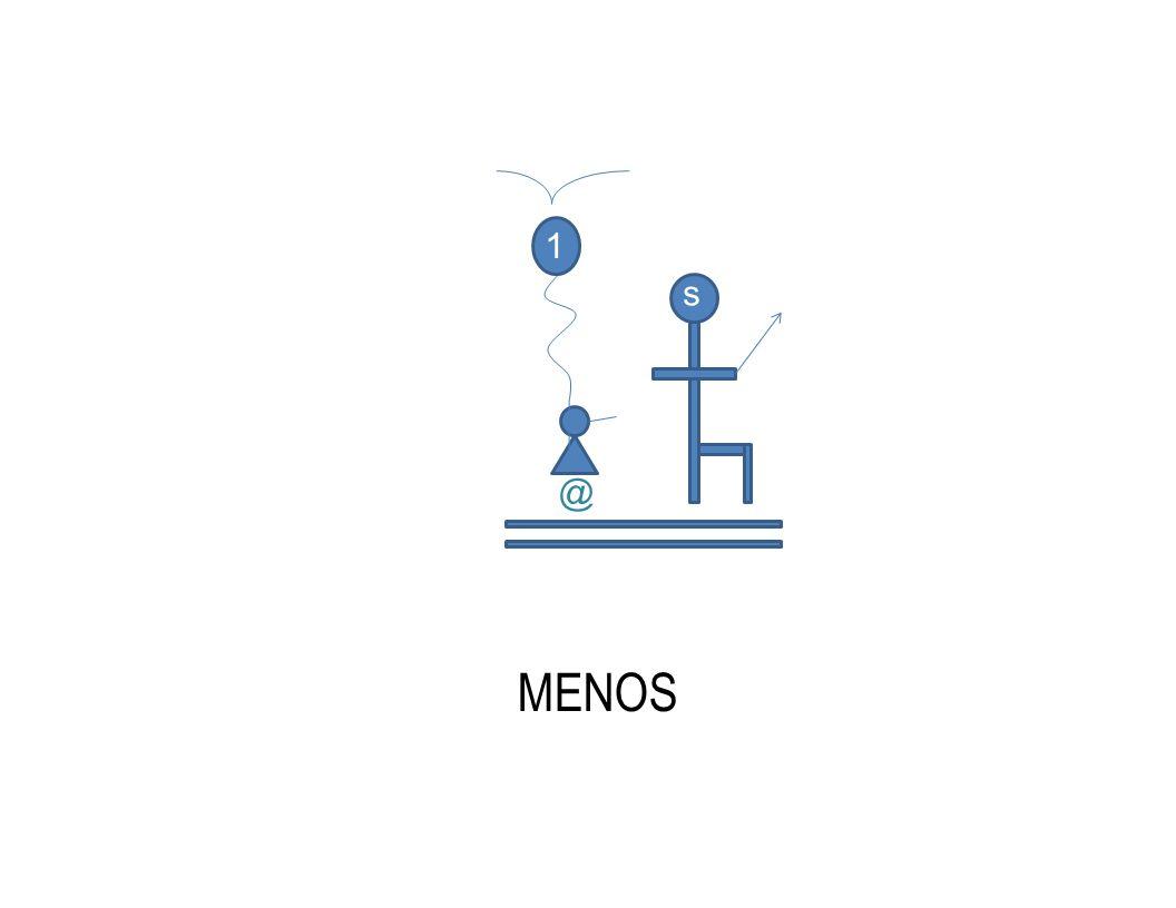 @ s MENOS 1