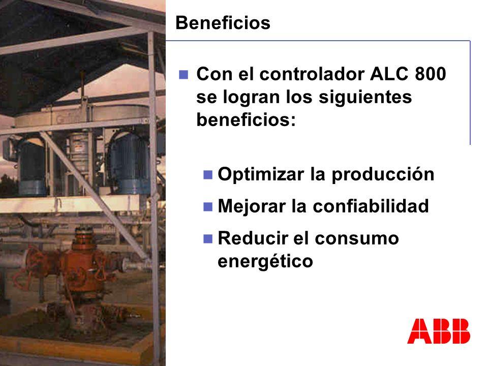 © ABB Automation Technology Products - 18 - 09/27/2004 - Beneficios Con el controlador ALC 800 se logran los siguientes beneficios: Optimizar la produ