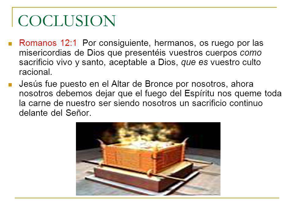 COCLUSION Romanos 12:1 Por consiguiente, hermanos, os ruego por las misericordias de Dios que presentéis vuestros cuerpos como sacrificio vivo y santo