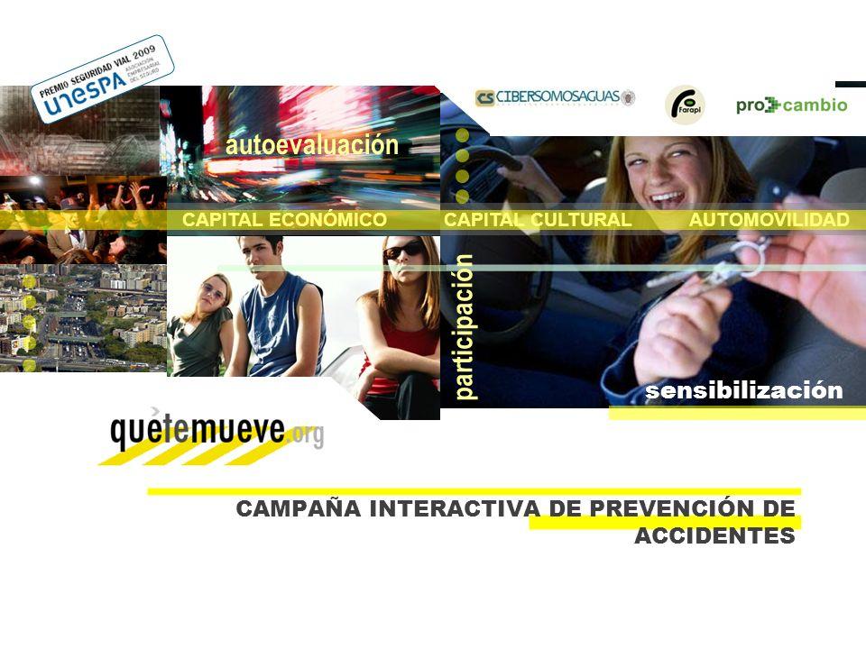 28/02/10 PÁG.22CAMPAÑA INTERACTIVA DE PREVENCIÓN DE ACCIDENTES - ESTUDIO FINAL 10 CAPITAL ECONÓMICO CAPITAL CULTURAL AUTOMOVILIDAD autoevaluación solu