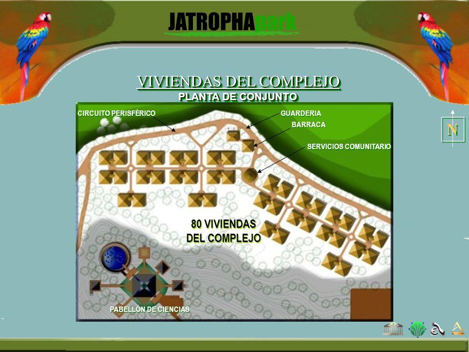 GUARDERIA BARRACA SERVICIOS COMUNITARIO 80 VIVIENDAS DEL COMPLEJO CIRCUITO PERISFÉRICO VIVIENDAS DEL COMPLEJO PLANTA DE CONJUNTO N N PABELLÓN DE CIENC