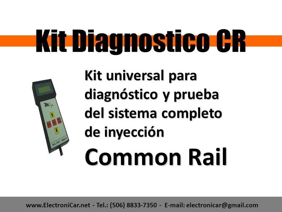 www.ElectroniCar.net - Tel.: (506) 8833-7350 - E-mail: electronicar@gmail.com Kit universal para diagnóstico y prueba del sistema completo de inyecció