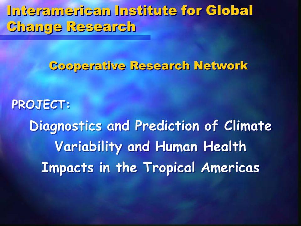 BRAZIL USA VENEZUELA COLOMBIA MEXICO JAMAICA FIOCRUZ IRI, NOAA, SCS, Univ.