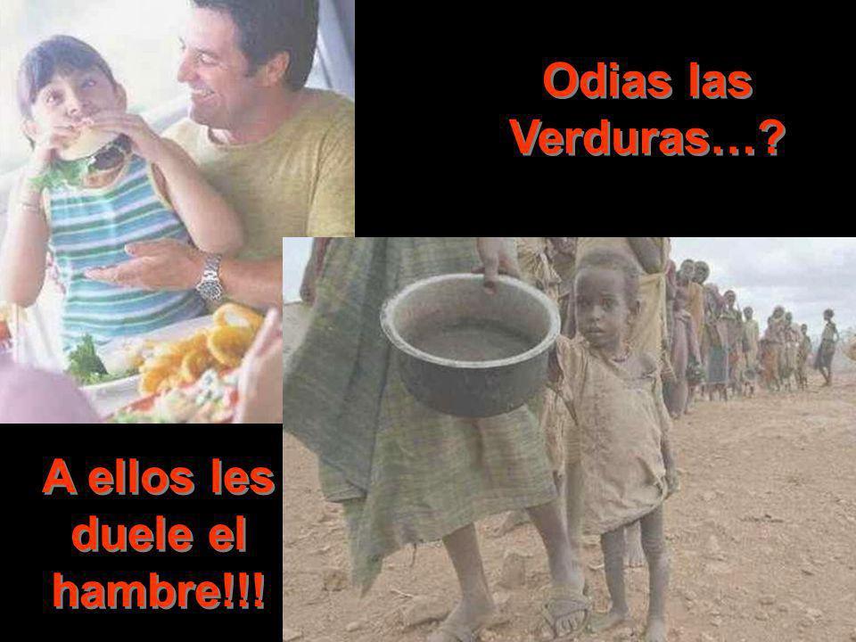 Odias las Verduras…? A ellos les duele el hambre!!!