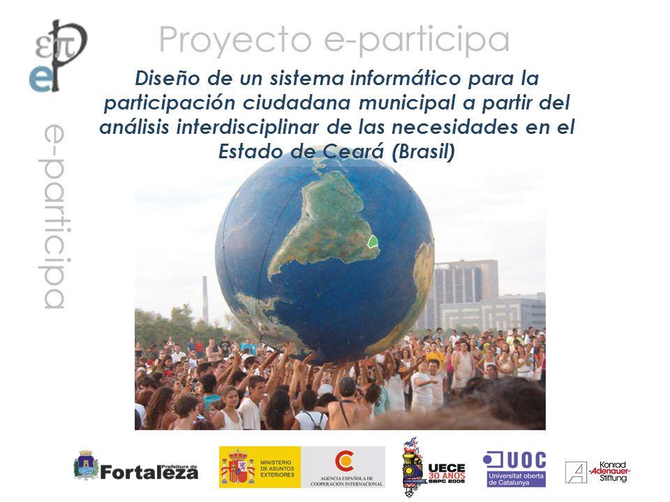 Proyecto Diseño de un sistema informático para la participación ciudadana municipal a partir del análisis interdisciplinar de las necesidades en el Es