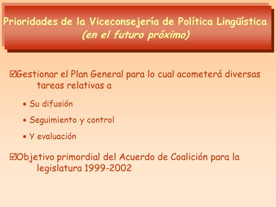 Gestionar el Plan General para lo cual acometerá diversas tareas relativas a Su difusión Seguimiento y control Y evaluación Objetivo primordial del Ac