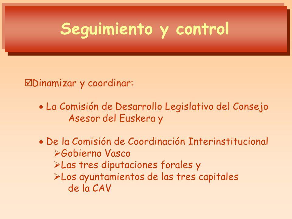 Dinamizar y coordinar: La Comisión de Desarrollo Legislativo del Consejo Asesor del Euskera y De la Comisión de Coordinación Interinstitucional Gobier
