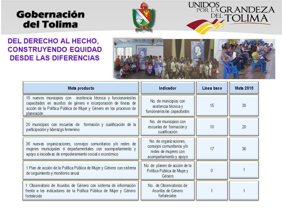 DEL DERECHO AL HECHO, CONSTRUYENDO EQUIDAD DESDE LAS DIFERENCIAS