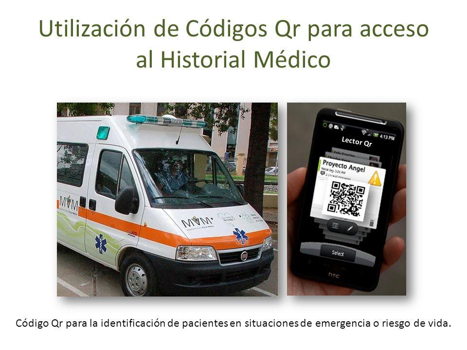 Utilización de Códigos Qr para acceso al Historial Médico Lector Qr Código Qr para la identificación de pacientes en situaciones de emergencia o riesg