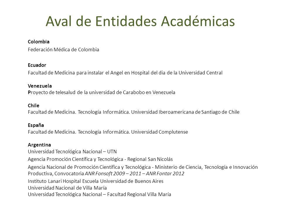 Colombia Federación Médica de Colombia Ecuador Facultad de Medicina para instalar el Angel en Hospital del dia de la Universidad Central Venezuela Pro