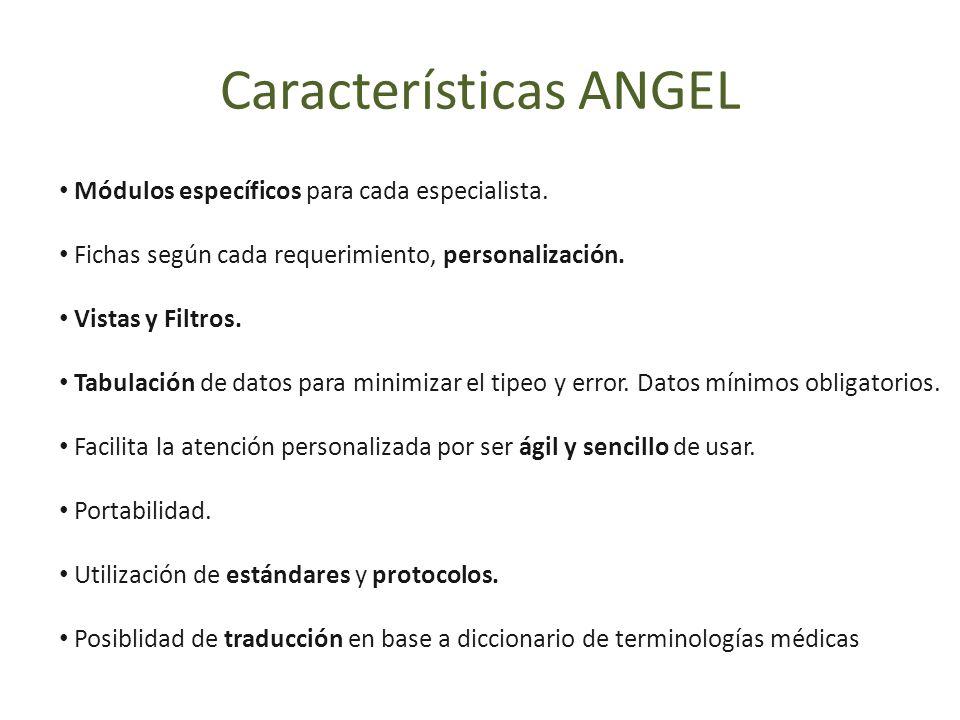 Módulos específicos para cada especialista. Fichas según cada requerimiento, personalización. Vistas y Filtros. Tabulación de datos para minimizar el