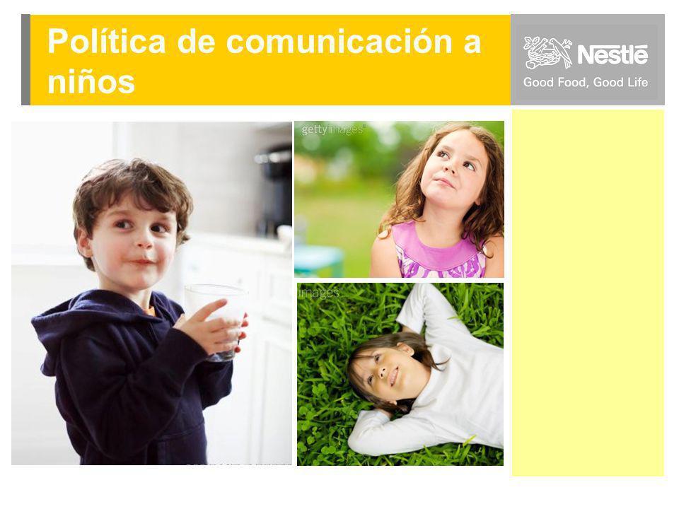 D I C I E M B R E 2 0 0 8 Dpto. Comunicaciones y Serv. Marketing Política de comunicación a niños