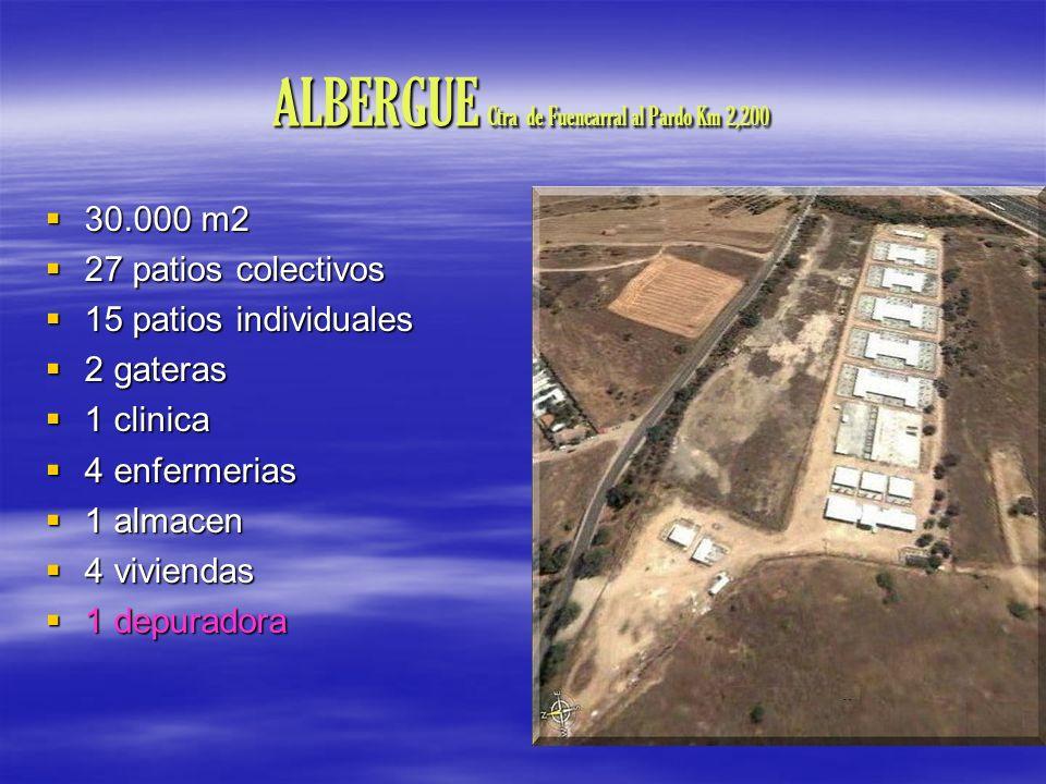 ALBERGUE Ctra de Fuencarral al Pardo Km 2,200 30.000 m2 30.000 m2 27 patios colectivos 27 patios colectivos 15 patios individuales 15 patios individua