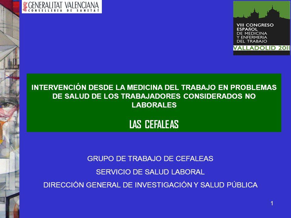Revisión de Publicaciones científicas en Cefalea.