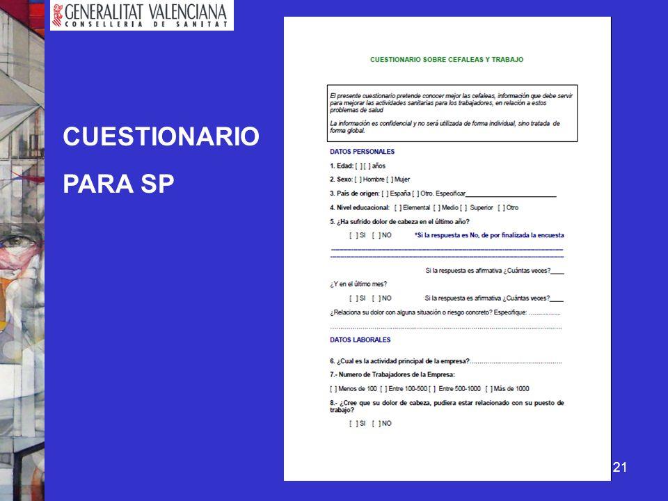21 CUESTIONARIO PARA SP