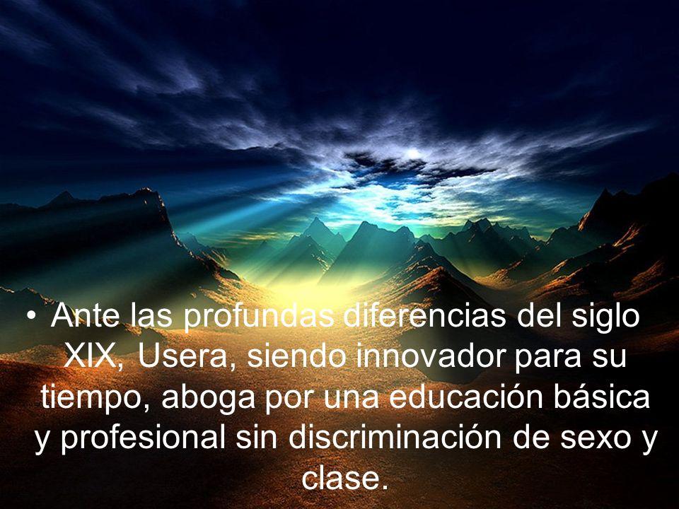 Usera, alumno de Alcalá, va a ser pionero por su acción educativa para la promoción humana integral, una verdadera liberación desde la educación crist