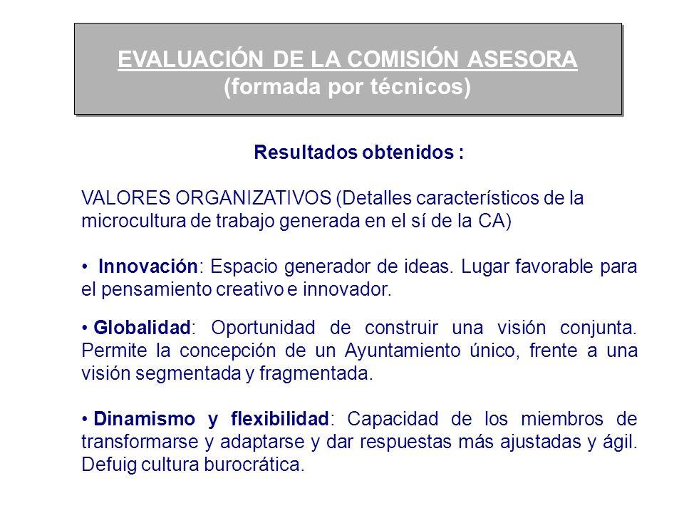 EVALUACIÓN DE LA COMISIÓN ASESORA (formada por técnicos) EVALUACIÓN DE LA COMISIÓN ASESORA (formada por técnicos) Resultados obtenidos : VALORES ORGAN