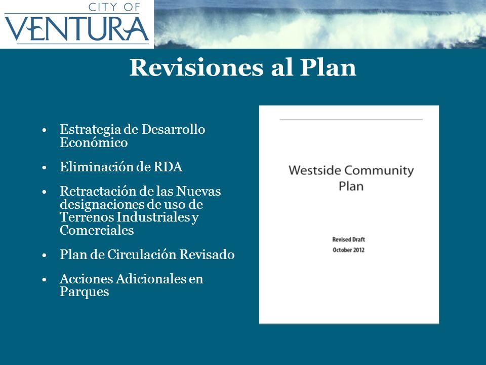 Revisiones al Plan Estrategia de Desarrollo Económico Eliminación de RDA Retractación de las Nuevas designaciones de uso de Terrenos Industriales y Co