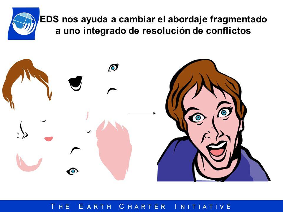 T H E E A R T H C H A R T E R I N I T I A T I V E EDS nos ayuda a cambiar el abordaje fragmentado a uno integrado de resolución de conflictos