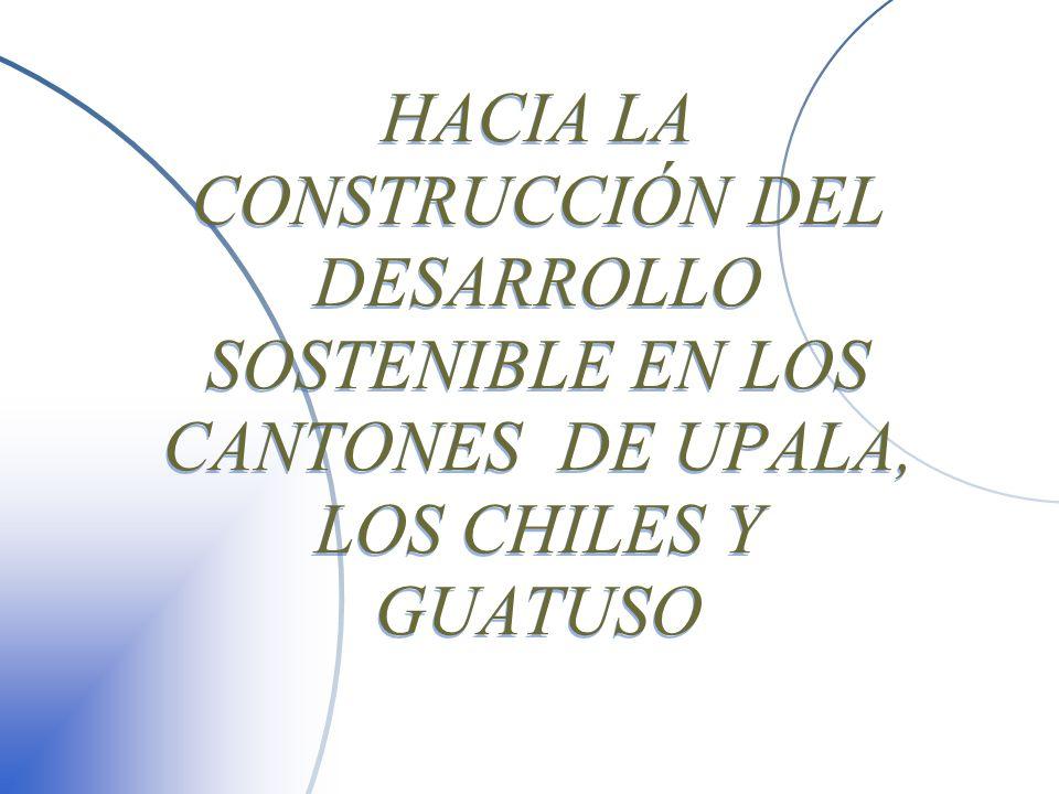 ASAHNOR PRESENTACIÓN u Diagnóstico general Upala Upala Los Chiles Los Chiles Guatuso Guatuso u Proceso de Agenda Local 21 u Asociación para el Desarrollo Sostenible de la Región Huetar Norte u MSc.