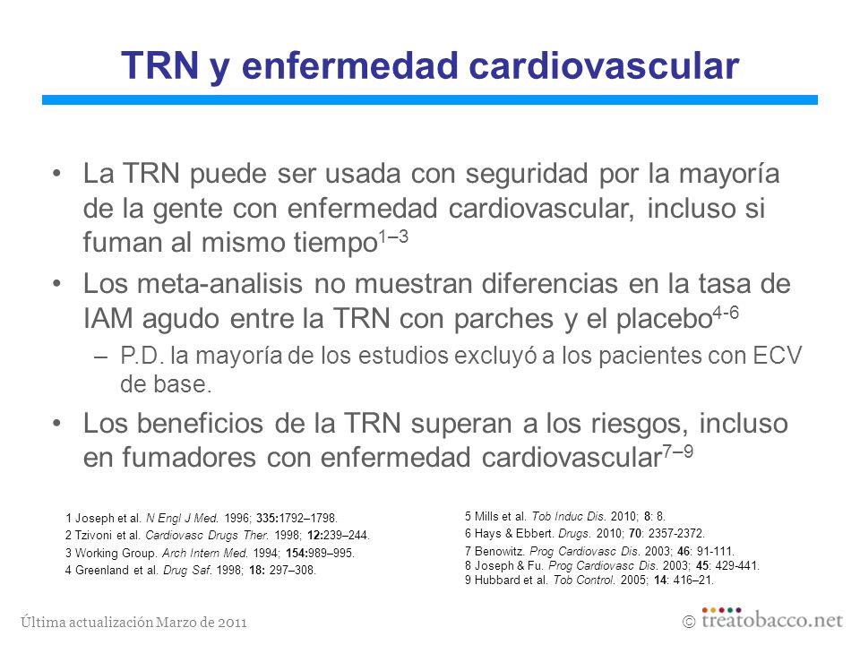 Última actualización Marzo de 2011 1 Joseph et al. N Engl J Med. 1996; 335:1792–1798. 2 Tzivoni et al. Cardiovasc Drugs Ther. 1998; 12:239–244. 3 Work