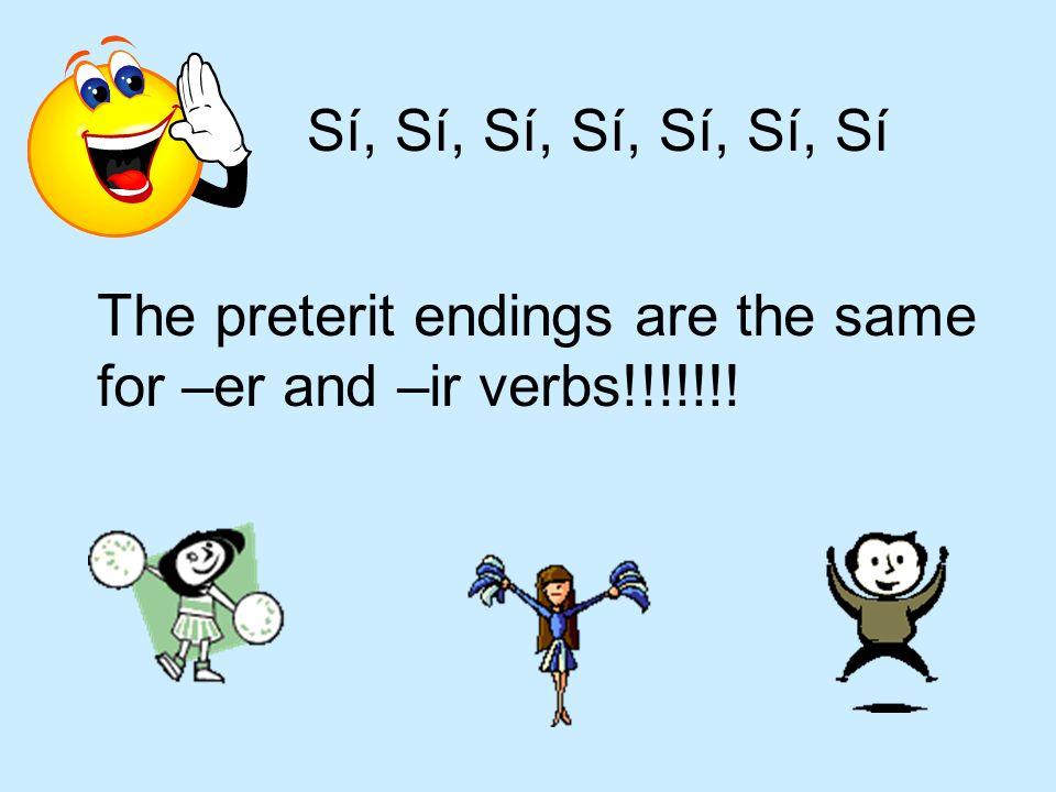Lets look at some preterit sentences with – er and –ir verbs Mi familia y yo no bebimos mucho agua en Mexico el verano pasado. Mi hermana y yo compart