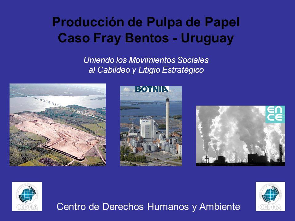 Producción de Pulpa de Papel Caso Fray Bentos - Uruguay Uniendo los Movimientos Sociales al Cabildeo y Litigio Estratégico Centro de Derechos Humanos
