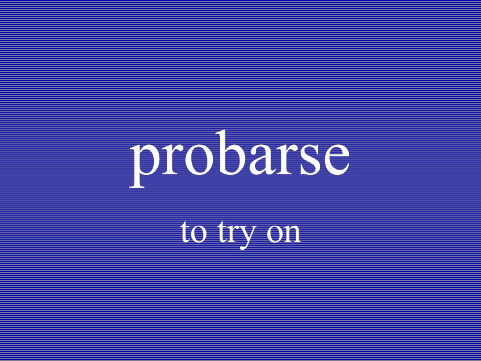 probarse to try on