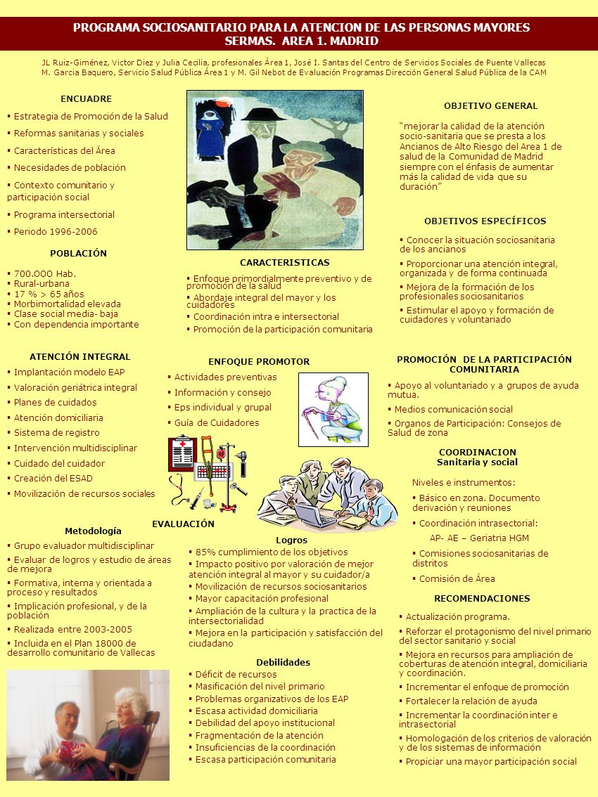 JL Ruiz-Giménez, Victor Diez y Julia Cecilia, profesionales Área 1, José I. Santas del Centro de Servicios Sociales de Puente Vallecas M. Garcia Baque