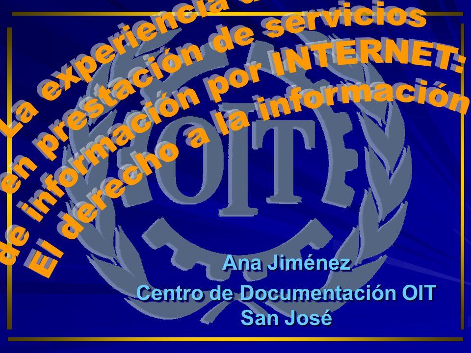 O I T Organismo especializado de las Naciones Unidas Fomenta la justicia social y los derechos humanos y laborales.