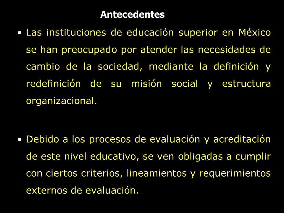 Las instituciones de educación superior en México se han preocupado por atender las necesidades de cambio de la sociedad, mediante la definición y red