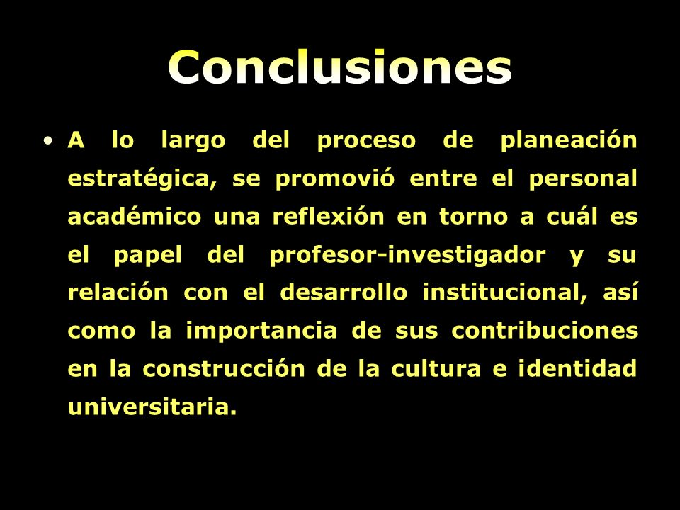 A lo largo del proceso de planeación estratégica, se promovió entre el personal académico una reflexión en torno a cuál es el papel del profesor-inves