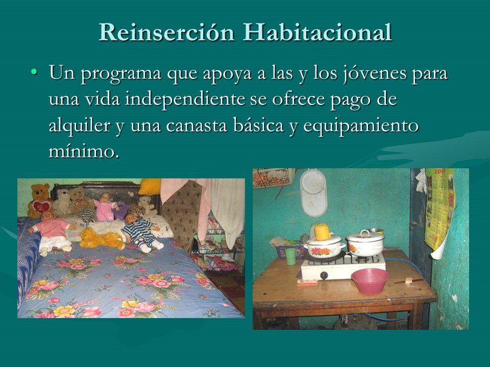 Reinserción Habitacional Un programa que apoya a las y los jóvenes para una vida independiente se ofrece pago de alquiler y una canasta básica y equip