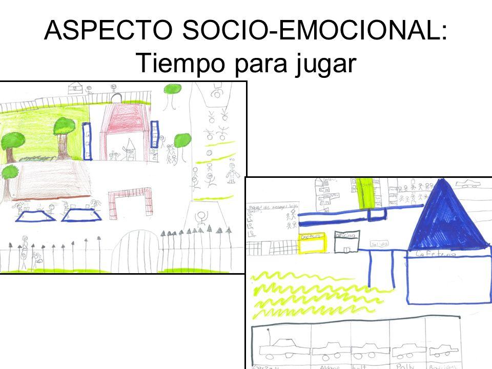 ASPECTO SOCIO-EMOCIONAL: Tiempo para jugar