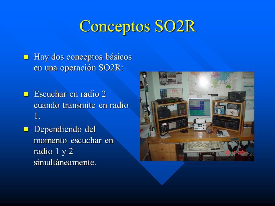 Conceptos SO2R Hay dos conceptos básicos en una operación SO2R: Hay dos conceptos básicos en una operación SO2R: Escuchar en radio 2 cuando transmite