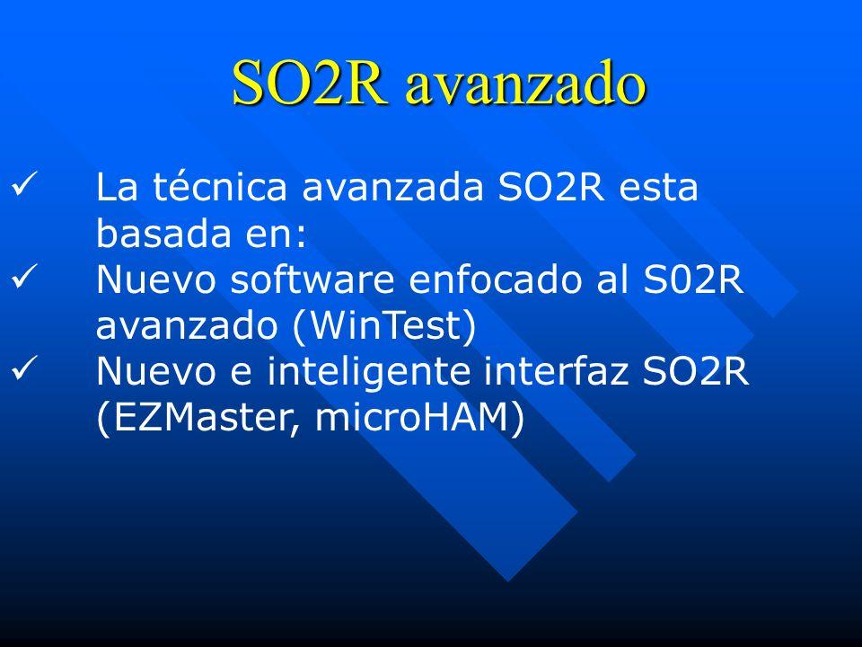 SO2R avanzado La técnica avanzada SO2R esta basada en: Nuevo software enfocado al S02R avanzado (WinTest) Nuevo e inteligente interfaz SO2R (EZMaster,