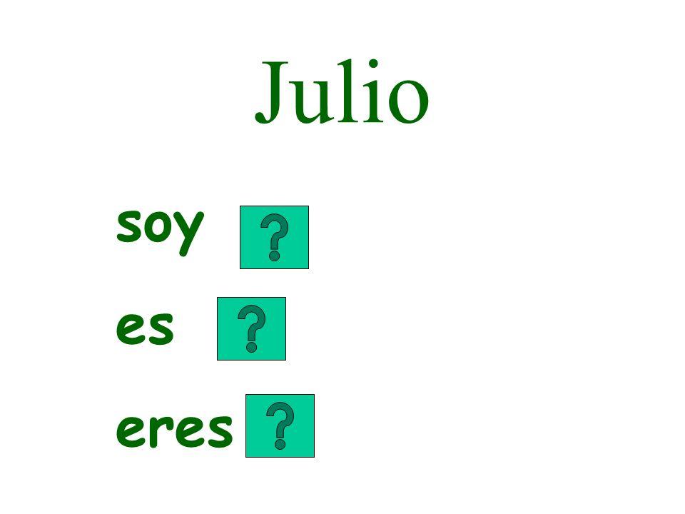 Julio soy es eres