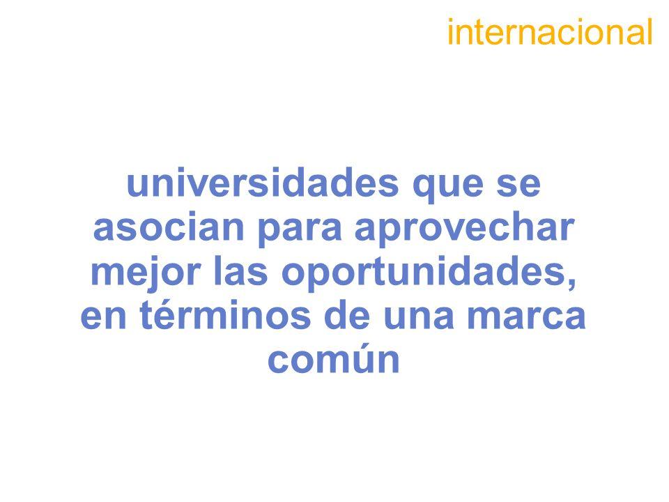 universidades que se asocian para aprovechar mejor las oportunidades, en términos de una marca común internacional