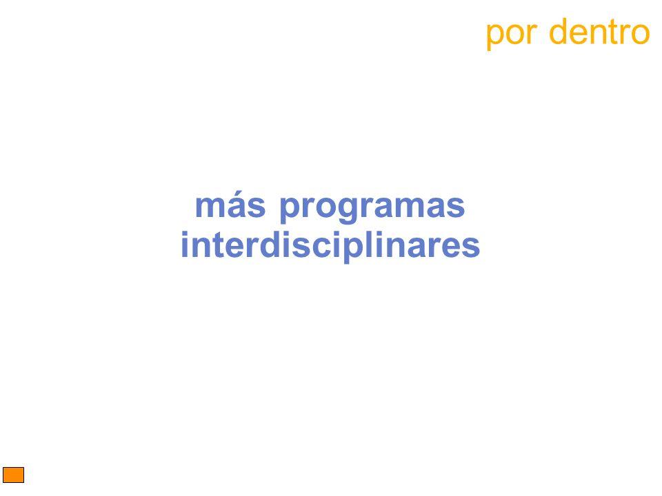 más programas interdisciplinares por dentro