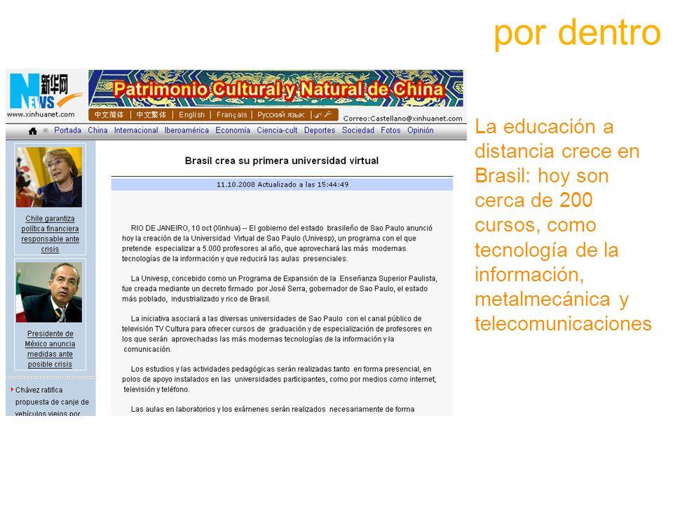 La educación a distancia crece en Brasil: hoy son cerca de 200 cursos, como tecnología de la información, metalmecánica y telecomunicaciones