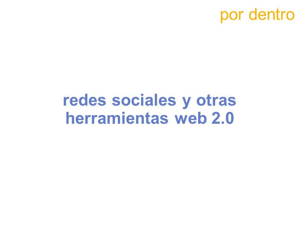 redes sociales y otras herramientas web 2.0 por dentro