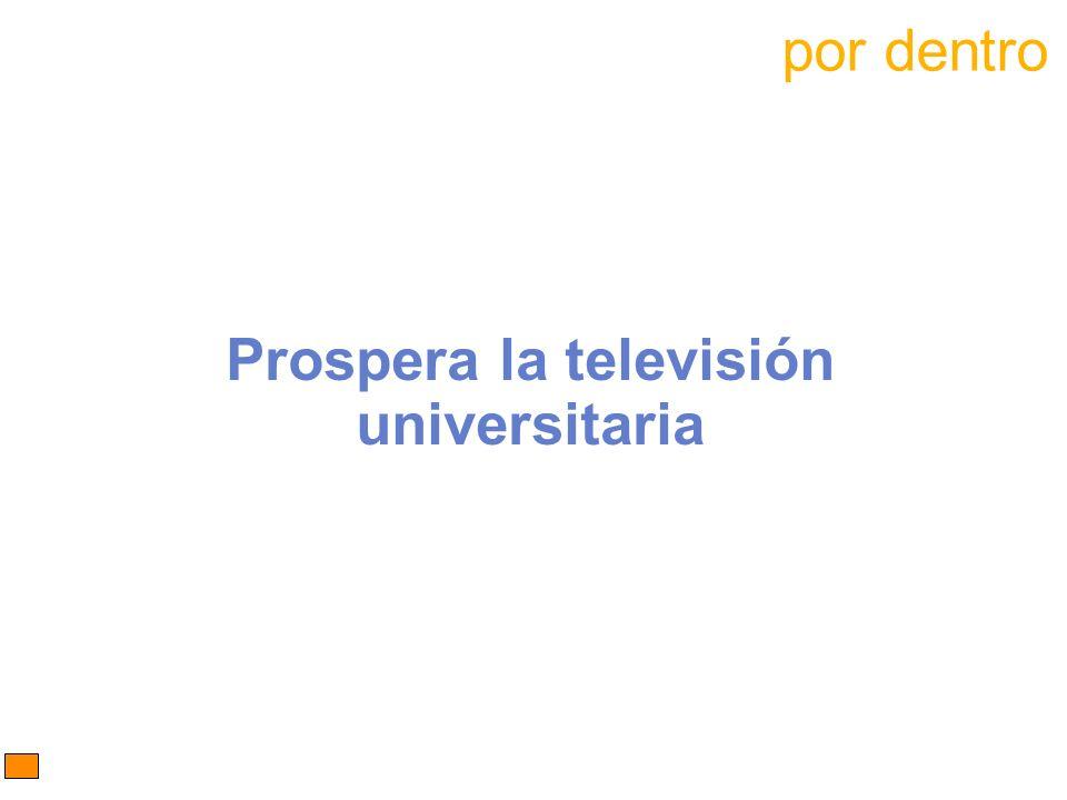 Prospera la televisión universitaria por dentro