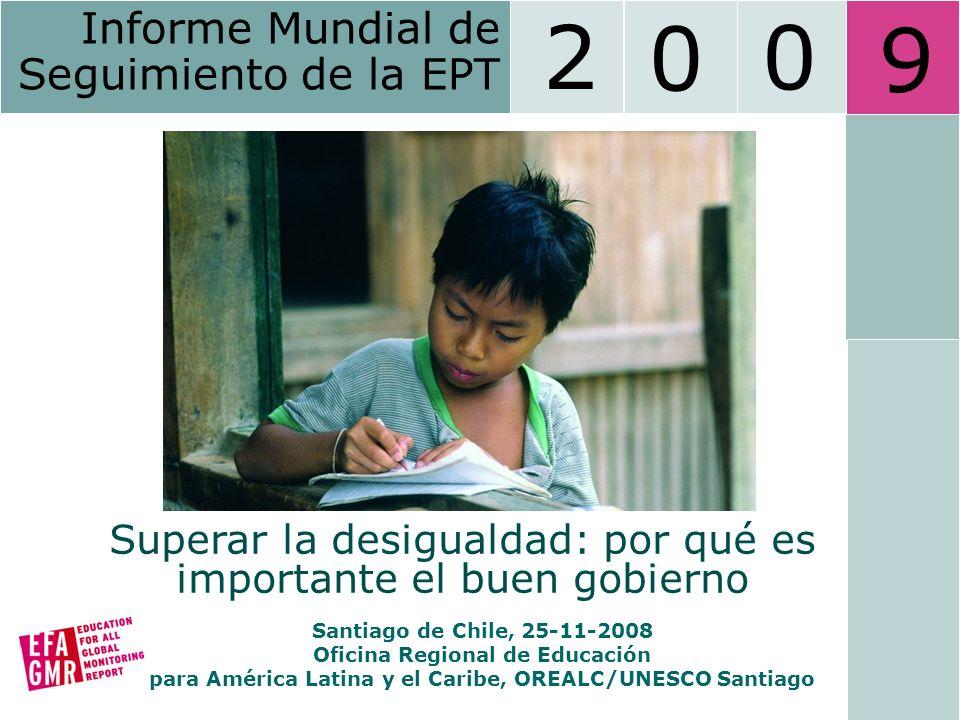 Education for All Global Monitoring Report 2009 12 Igualdad entre los Géneros Fuente: Informe Mundial de Educación 2009 (2006) Gráfico 3: Disparidades entre sexos en las TBE de primaria y secundaria